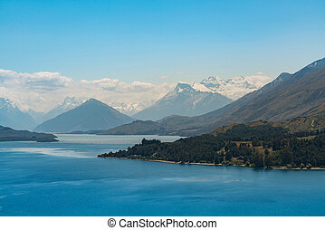 New Zealand water lake with Mt.Cook