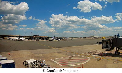 newark, bleu, continental, nouveau, avion, -, juin, nj, ...