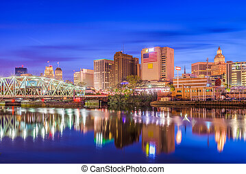 Newark New Jersey USA - Newark, New Jersey, USA skyline on...