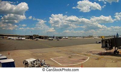 NEWARK, NJ - JUNE 07: Terminal A of Newark Liberty...