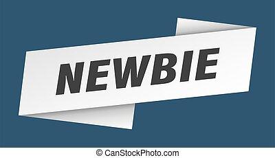 newbie banner template. newbie ribbon label sign
