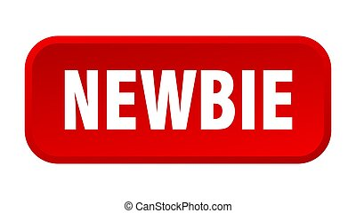 newbie button. newbie square 3d push button