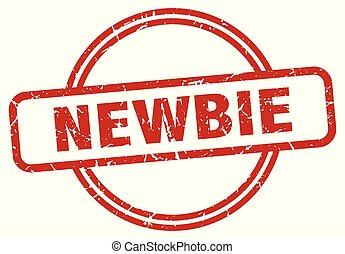 newbie grunge stamp - newbie round vintage grunge stamp