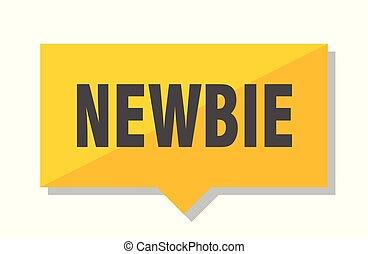 newbie price tag - newbie yellow square price tag