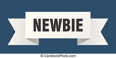 newbie ribbon. newbie isolated sign. newbie banner