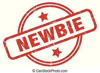 newbie round grunge isolated stamp