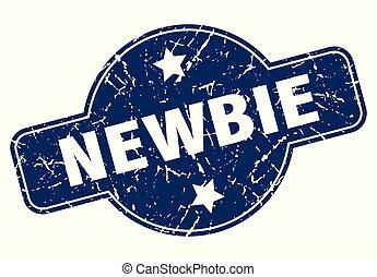 newbie sign - newbie vintage round isolated stamp