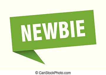 newbie speech bubble. newbie sign. newbie banner