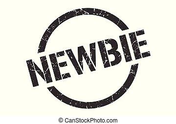 newbie stamp - newbie black round stamp