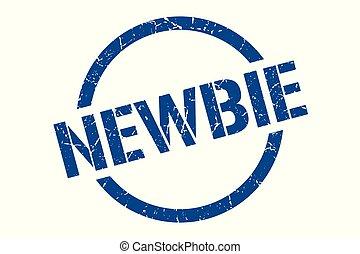 newbie stamp - newbie blue round stamp