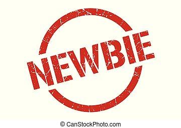newbie stamp - newbie red round stamp