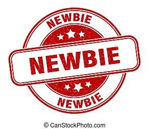 newbie stamp. newbie round grunge sign. label