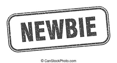 newbie stamp. newbie square grunge sign. label