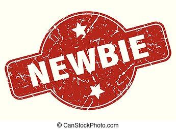 newbie vintage stamp. newbie sign