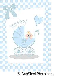 newborn baby boy card