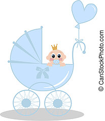 newborn baby boy - illustration of a newborn baby girl with...