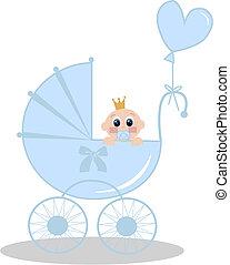 newborn baby boy - illustration of a newborn baby girl with ...