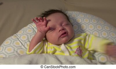 Newborn Baby Epic Stretch Then back to sleep