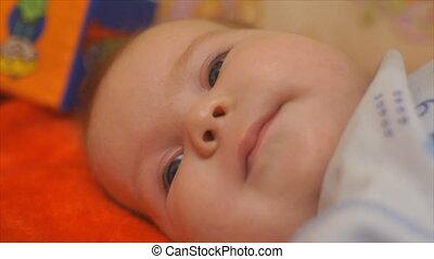 newborn baby face close-up