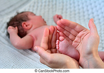 Newborn baby - foot