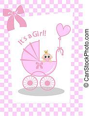 newborn baby girl card