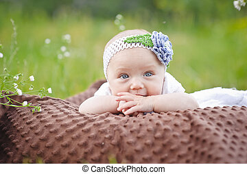 23104dd9e5 Newborn baby girl in white tutu. Newborn baby girl wearing a white ...
