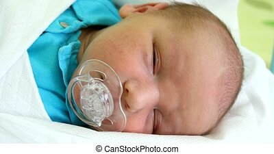 Newborn baby infant in the hospital - newborn baby infant in...