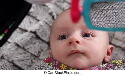 Newborn Baby Playing