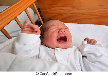 Newborn baby screaming