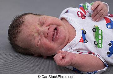 Newborn baby screaming