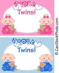twins - newborn baby twins