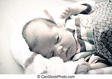 Newborn Baby Waking Up