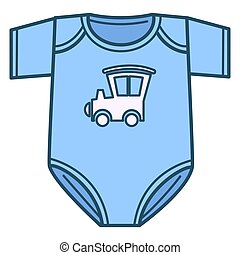 Newborn bodysuit for boy, clothes for kids vector - Clothes ...