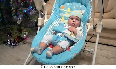 Newborn boy swing in automatic electrical baby chair