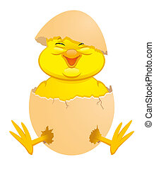 Newborn chick -  Cartoon newborn chick