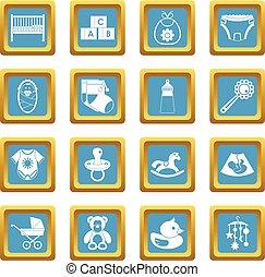 Newborn icons azure
