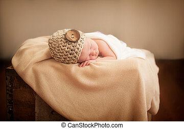 Newborn in a box