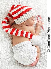 newborn niemowlę, boże narodzenie