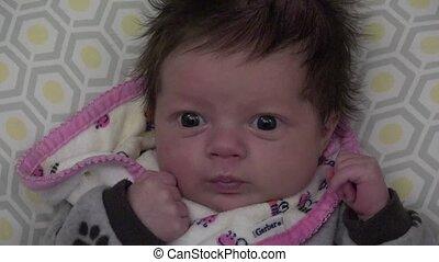 newborn niemowlę, oczy, cielna