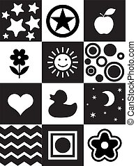 Newborn printable toy - Infant Visual Stimulation Patterns. ...