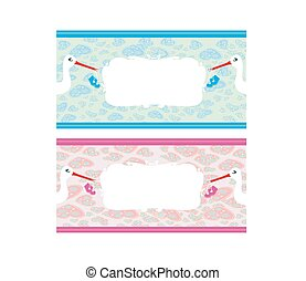 Newborn set banners.Two colors for boys and girls.
