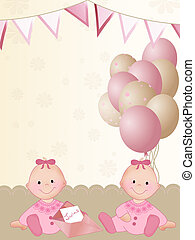 Newborn twin girls - Background