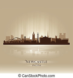 Newcastle England skyline city silhouette