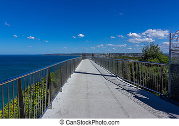 newcastle, monumento conmemorativo, caminata
