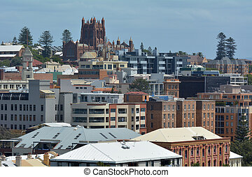 Newcastle skyline in New South Wales, Australia