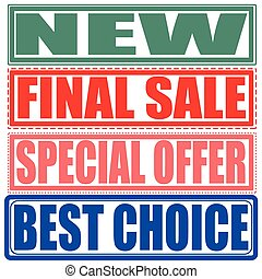 new,final sale,special offer,best choice