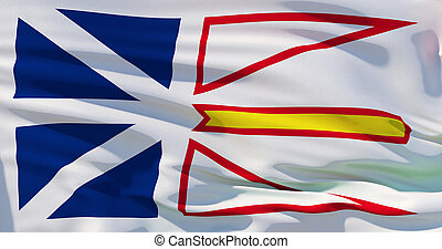 Newfoundland and Labrador flag background, High quality 3d illustration, Realistic texture