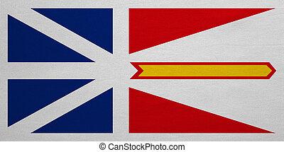 Newfoundland and Labrador flag real fabric texture