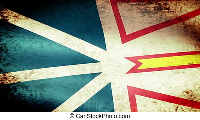 Newfoundland and Labrador Flag Waving, grunge look