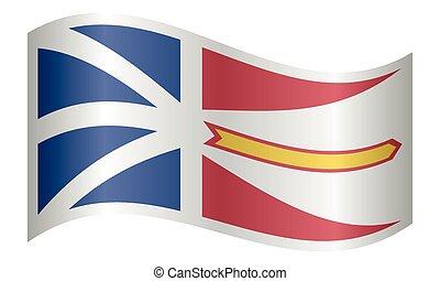 Newfoundland and Labrador flag wavy white backdrop
